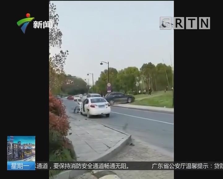 杭州:醉汉强抢他人车辆 一路连撞八车
