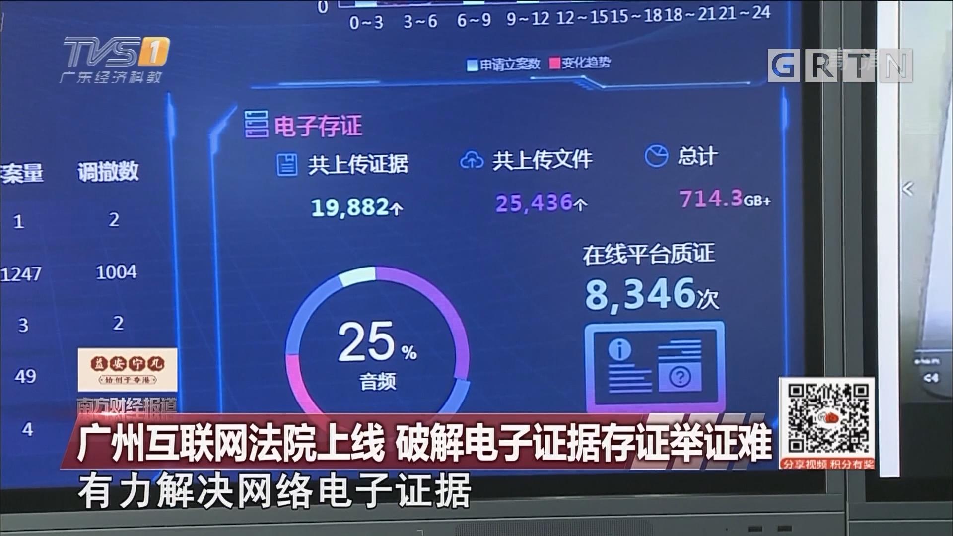 廣州互聯網法院上線 破解電子證據存證舉證難