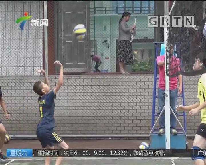 """广州:""""培英杯""""中学生排球赛今天举行"""