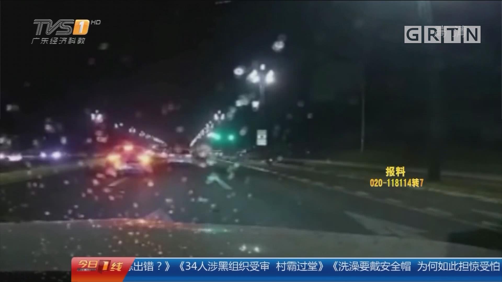 """行车安全:7次""""狮吼""""提醒女司机刹车 就是不听劝!"""