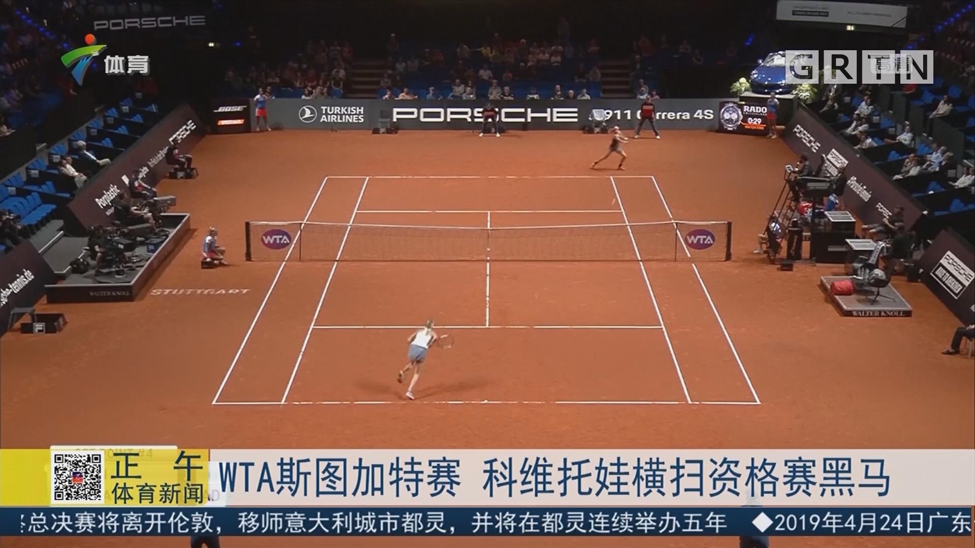 WTA斯图加特赛 科维托娃横扫资格赛黑马
