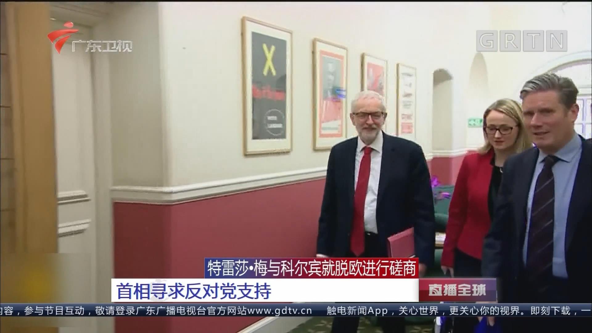 特蕾莎·梅与科尔宾就脱欧进行磋商 首相寻求反对党支持