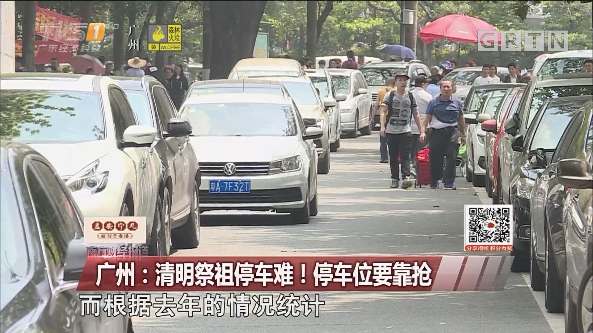 广州:清明祭祖停车难!停车位要靠抢