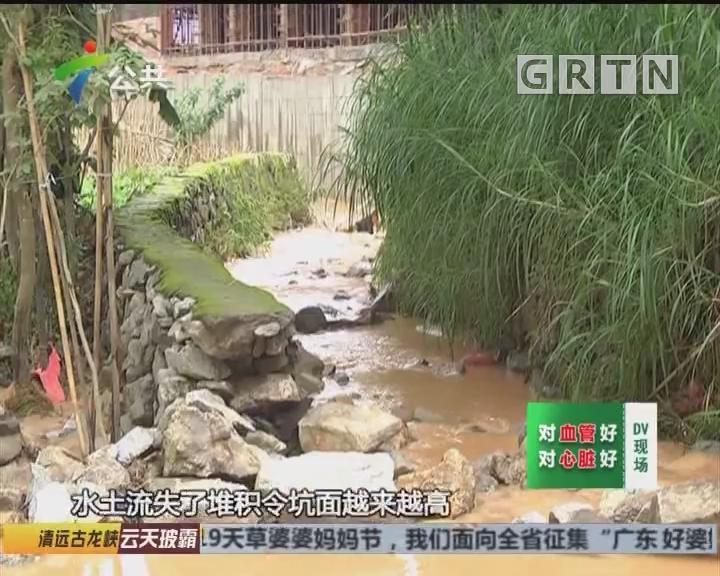 肇庆:排水渠出问题 部分村屋被水浸