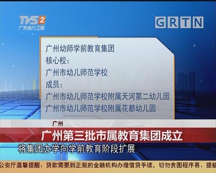 广州:广州第三批市属教育集团成立