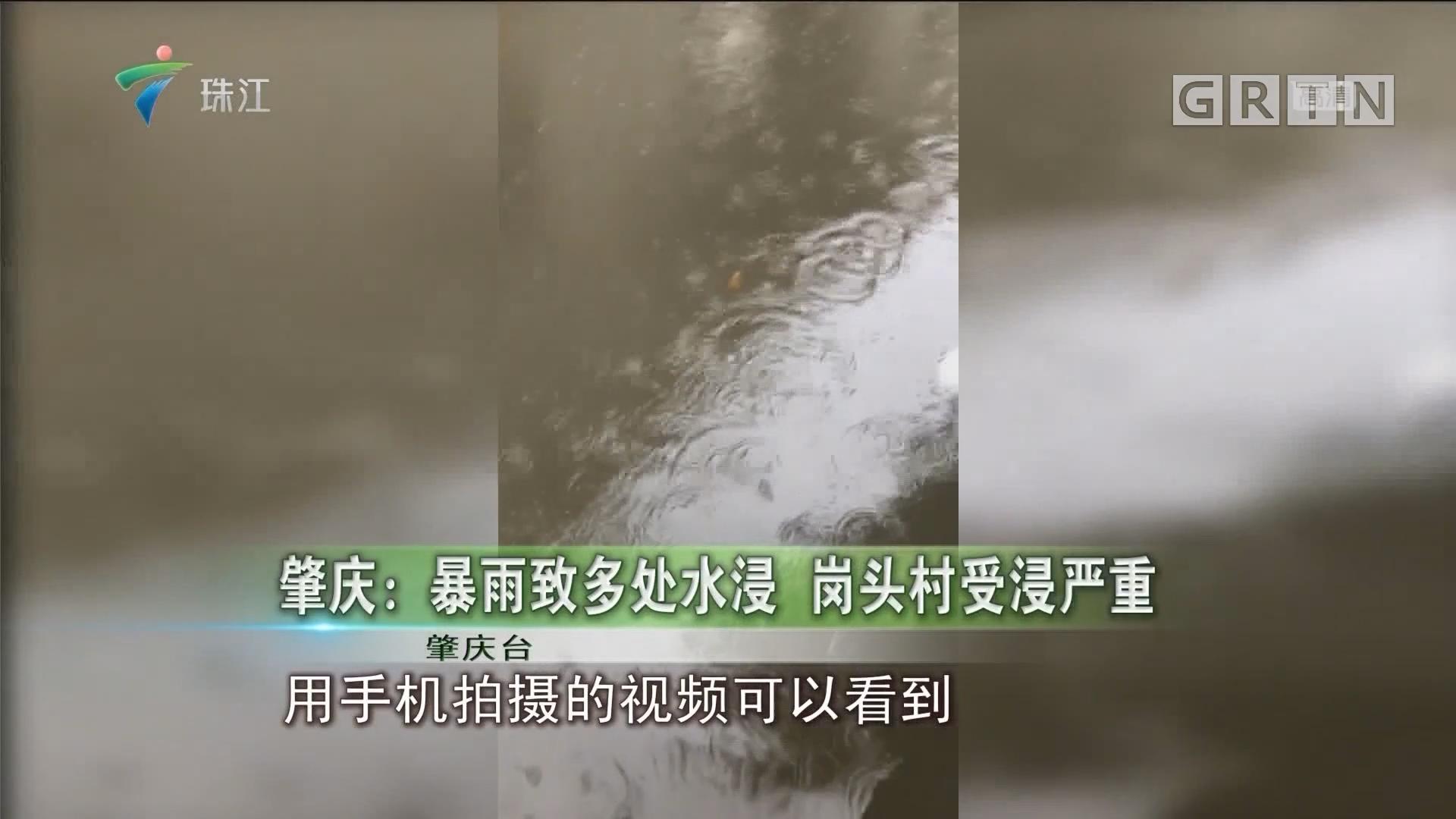 肇庆:暴雨致多处水浸 岗头村受浸严重