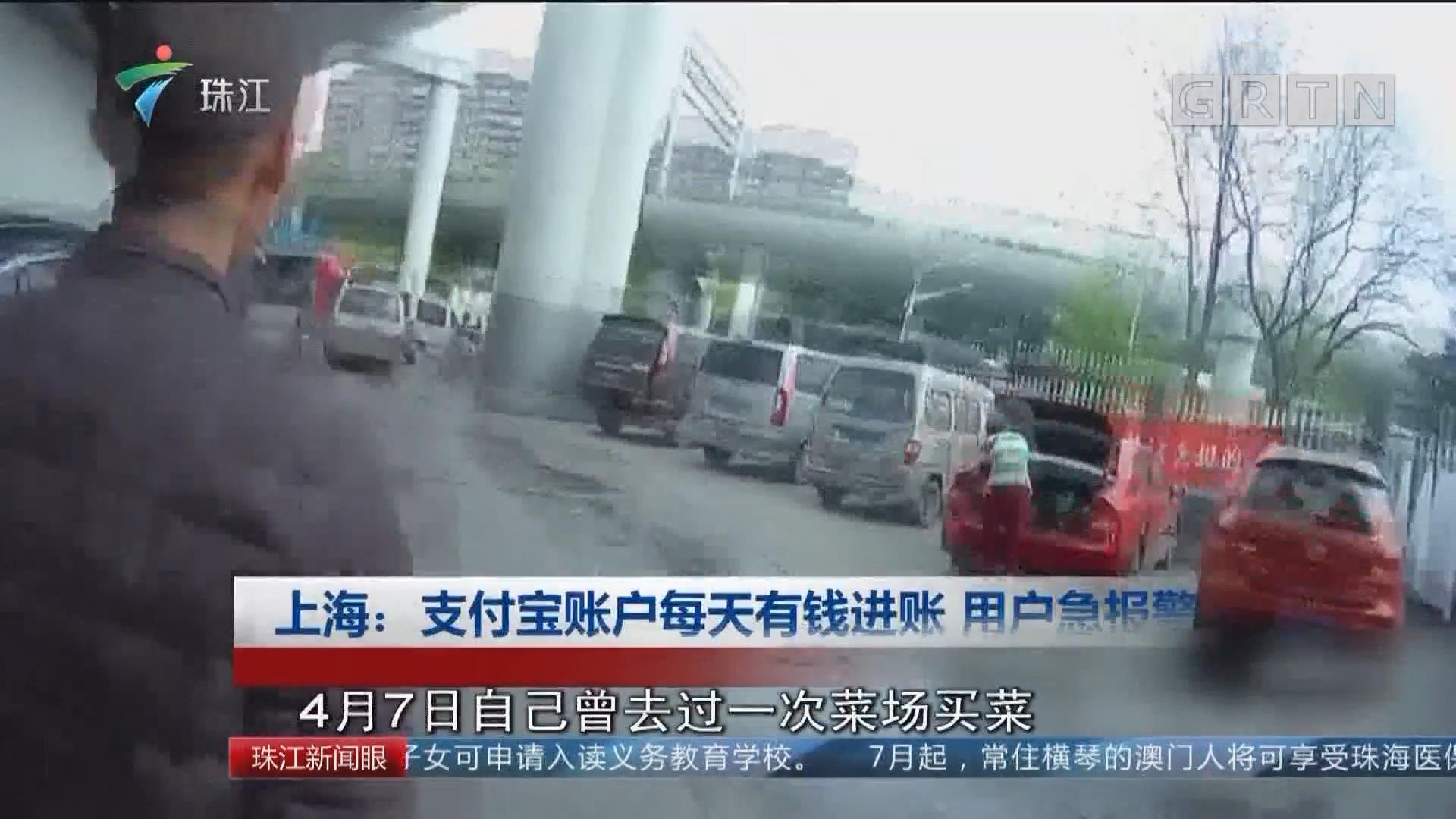 上海:支付宝账户每天有钱进账 用户急报警