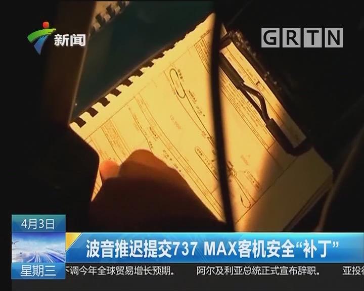 """波音推迟提交737 MAX客机安全""""补丁"""""""