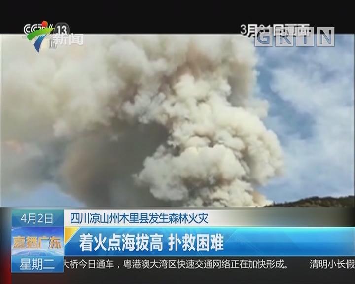 四川凉山州木里县发生森林火灾:着火点海拔高 扑救困难