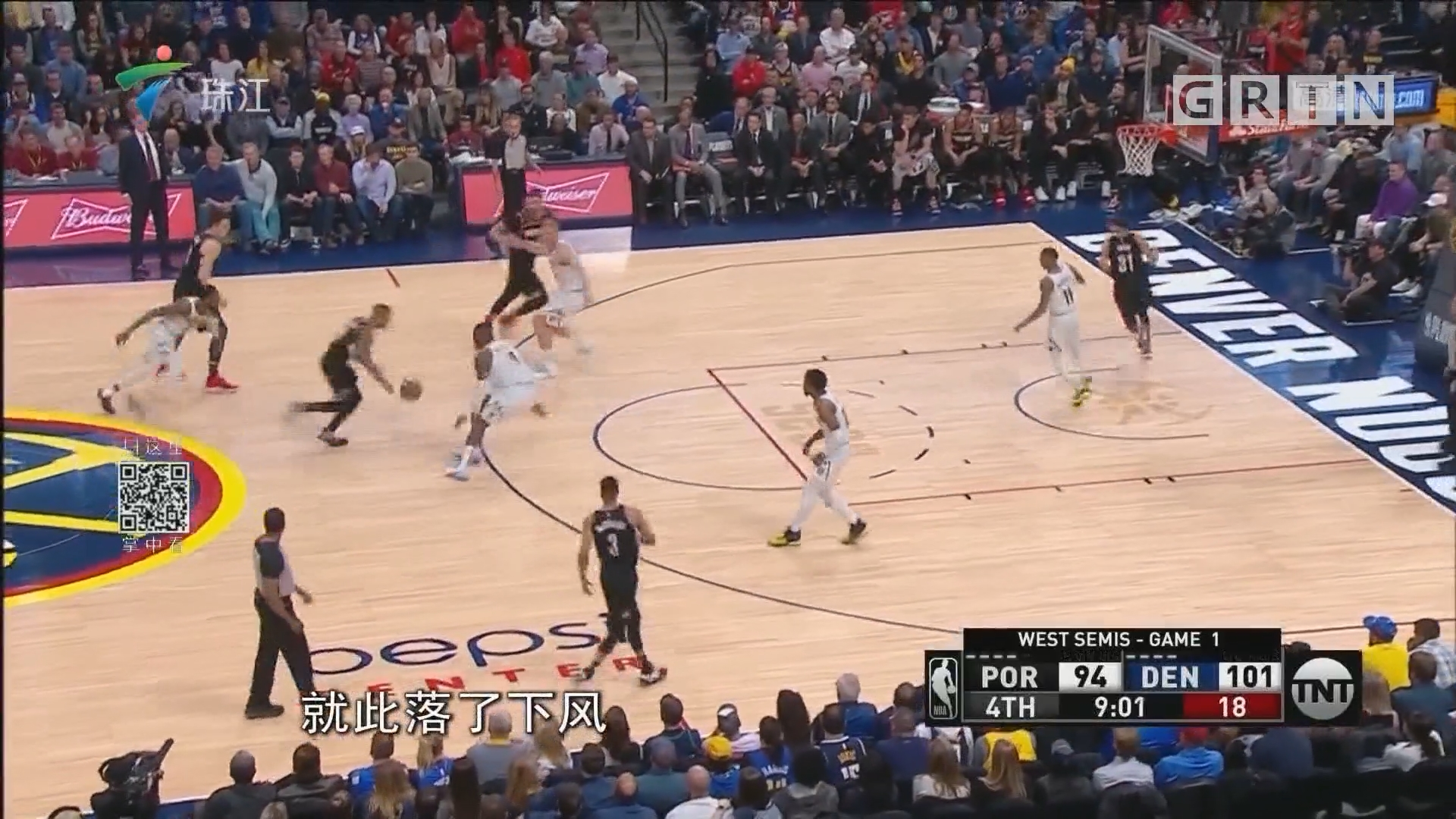 NBA:掘金击退开拓者1-0领先