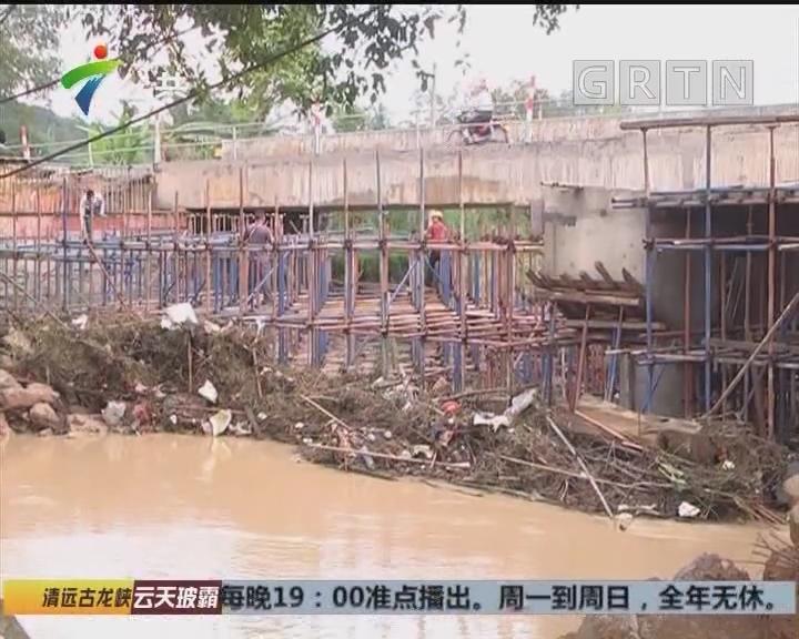 肇庆:暴雨河水猛涨 村路校舍被淹