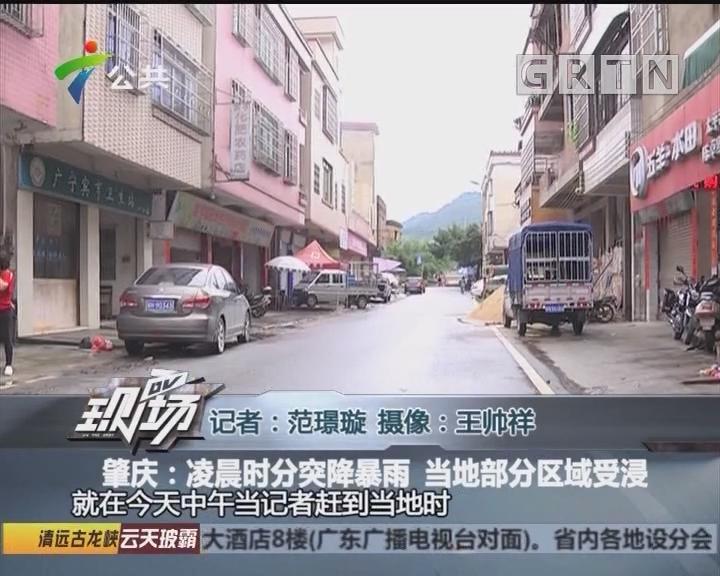 肇庆:凌晨时分突降暴雨 当地部分区域受浸
