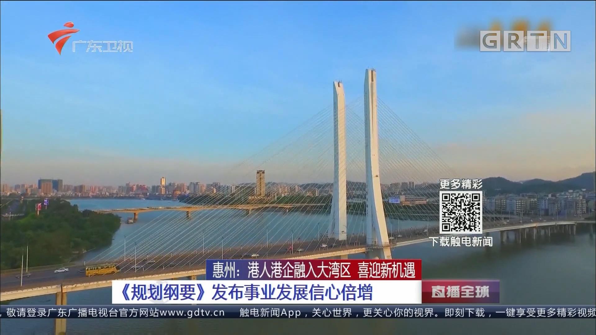 惠州:港人港企融入大湾区 喜迎新机遇 《规划纲要》发布事业发展信心倍增