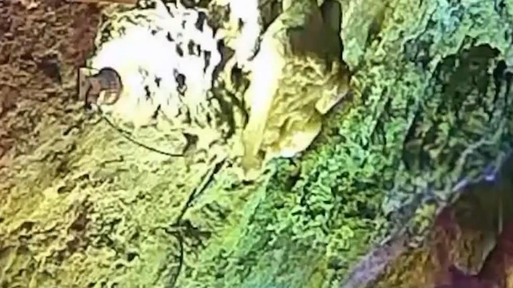 百万年钟乳石遭游客盗走