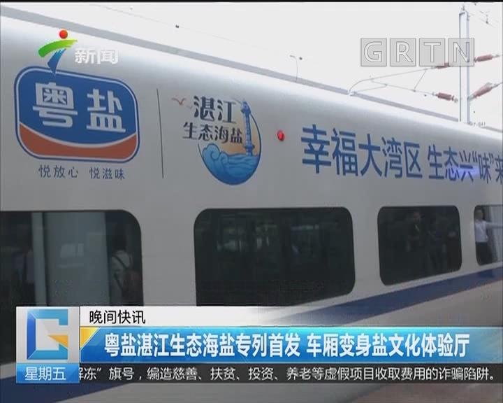 粤盐湛江生态海盐专列首发 车厢变身盐文化体验厅