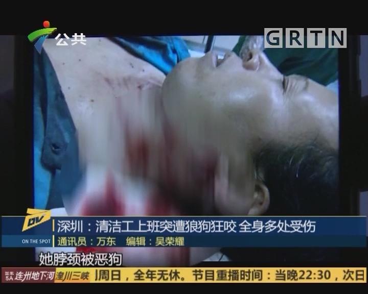 深圳:清洁工上班突遭狼狗狂咬 全身多处受伤
