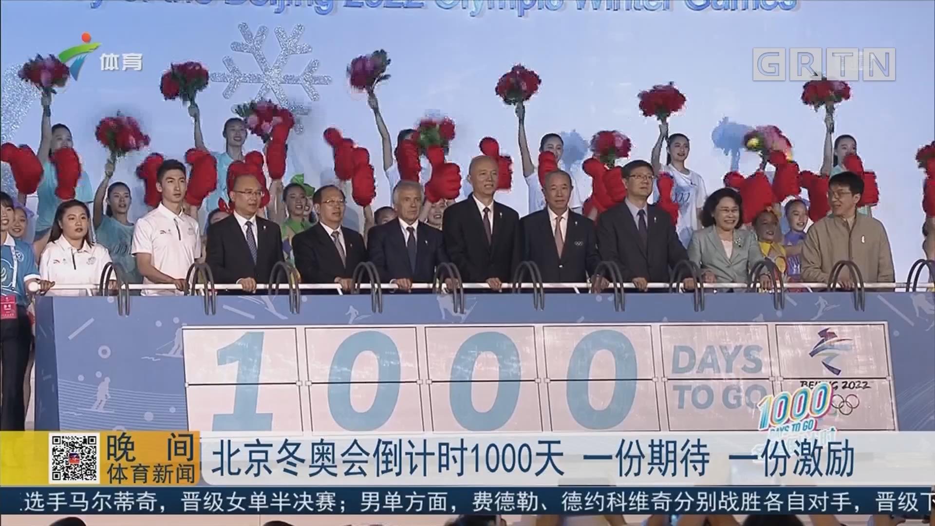 北京冬奥会倒计时1000天 一份期待 一份激励
