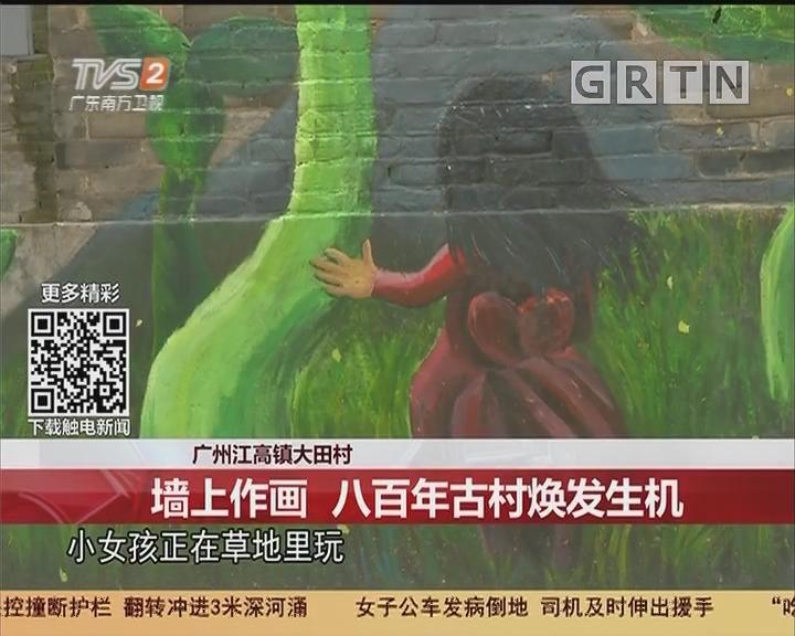 广州江高镇大田村:墙上作画 八百年古村焕发生机