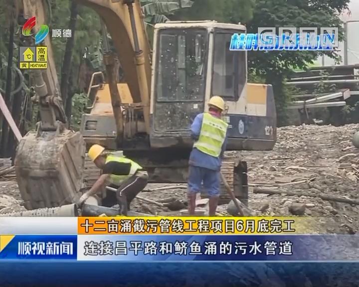 十二亩涌截污管线工程项目6月底完工