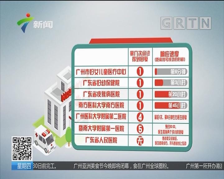 互联网医院 广州:网络问诊响应速度不一 快的6分钟慢则45小时
