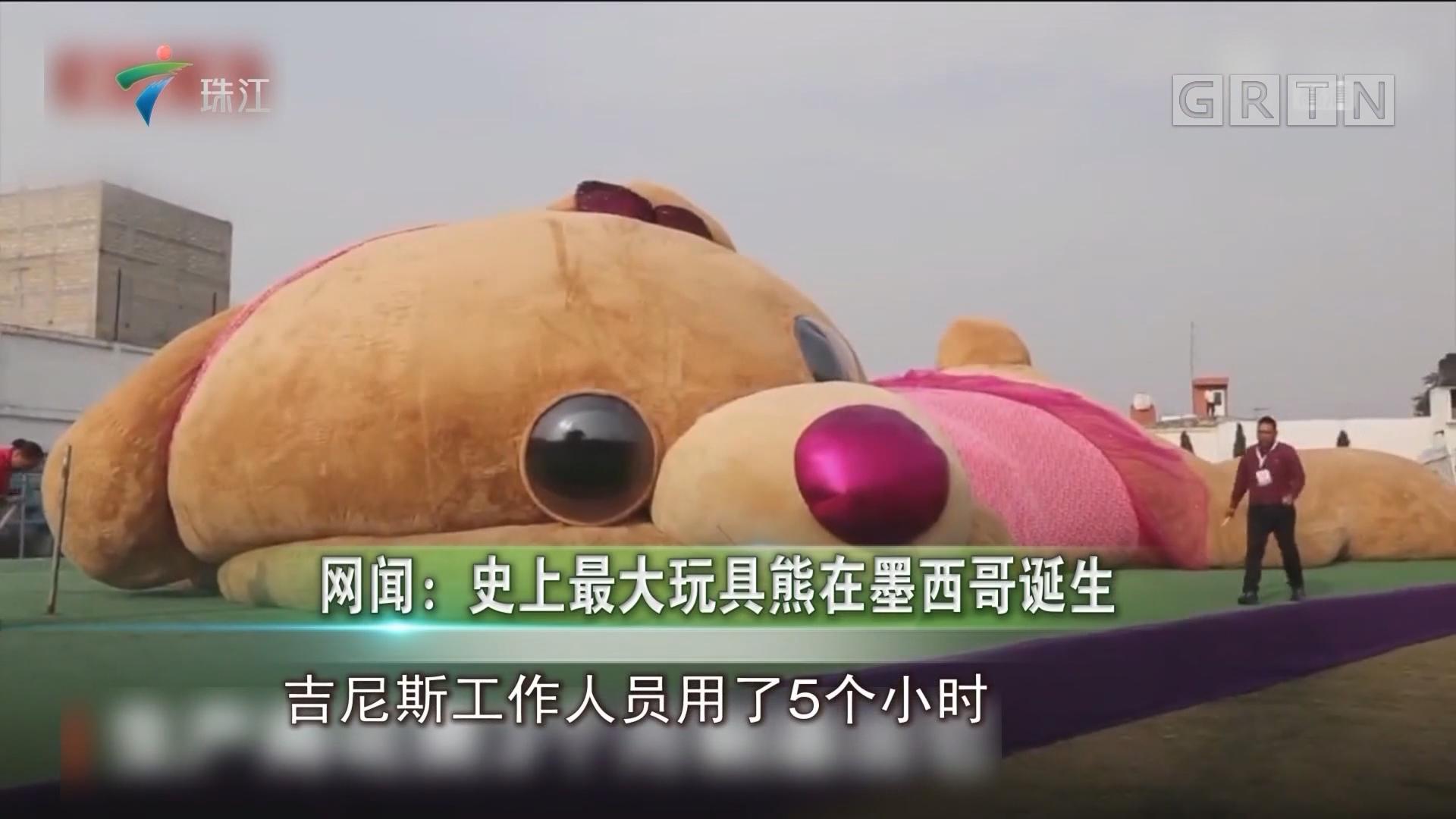 网闻:史上最大玩具熊在墨西哥诞生
