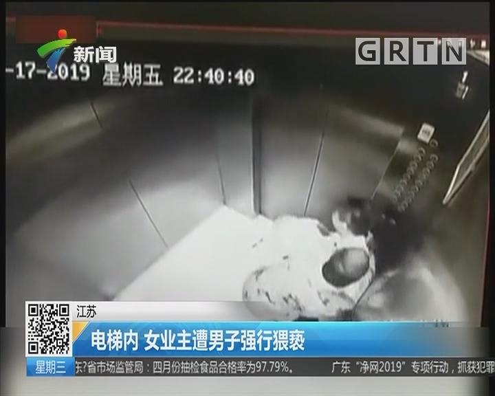 江苏:电梯内 女业主遭男子强行猥亵