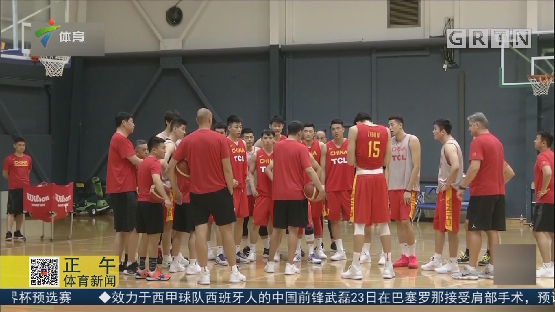 男篮世界杯倒计时100天 中国男篮首次公开亮相