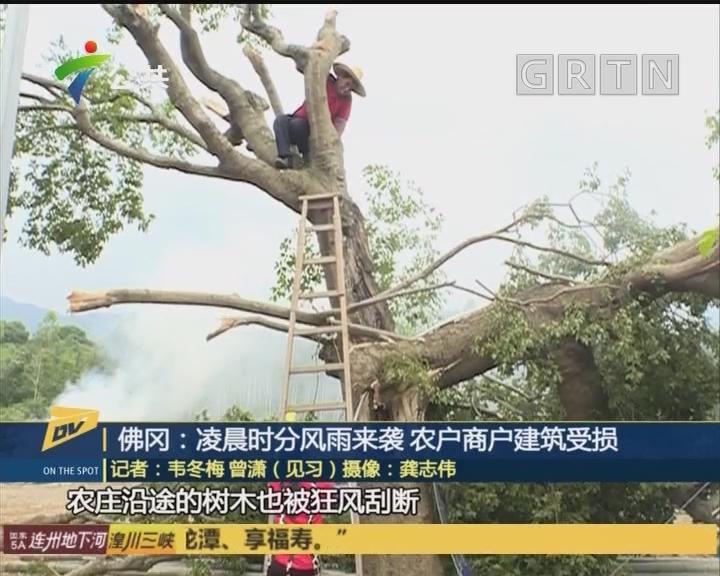 佛冈:凌晨时分风雨来袭 农户商户建筑受损