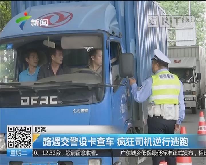 顺德:路遇交警设卡查车 疯狂司机逆行逃跑