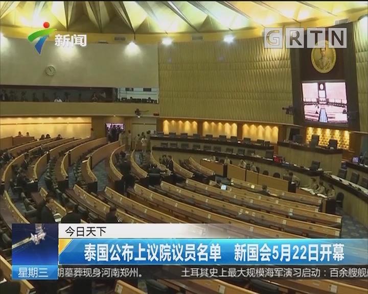 泰国公布上议院议员名单 新国会5月22日开幕