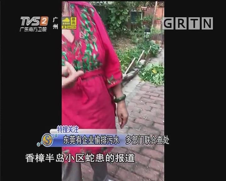 东莞有企业偷排污水 多部门联合查处