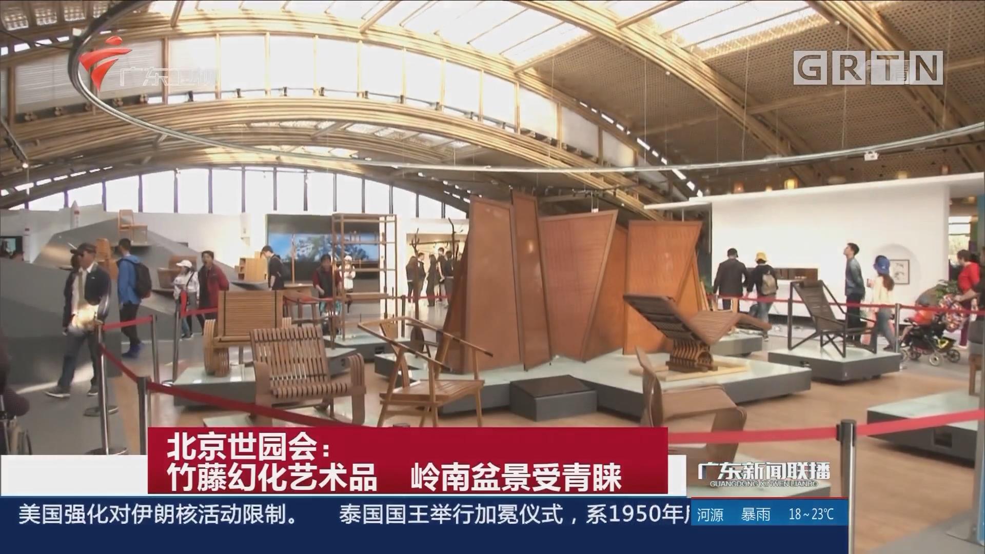北京世园会:竹藤幻化艺术品 岭南盆景受青睐