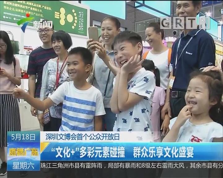 """深圳文博会首个公众开放日:""""文化+""""多彩元素碰撞 群众乐享文化盛宴"""