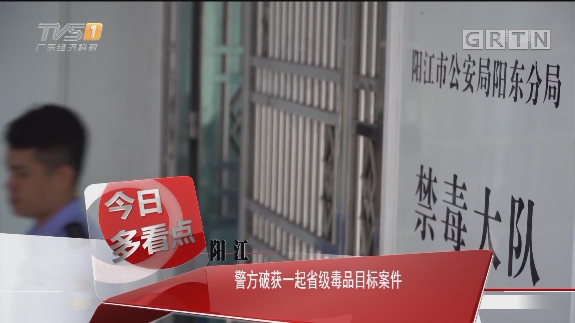 阳江:警方破获一起省级毒品目标案件
