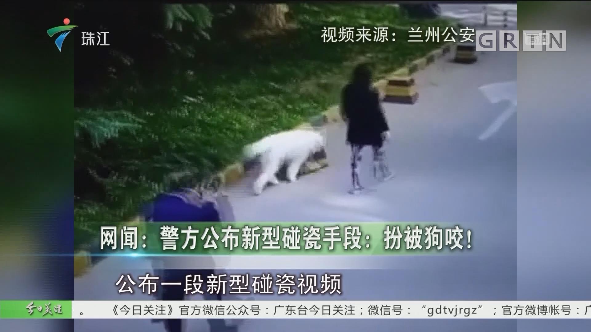 网闻:警方公布新型碰瓷手段:扮被狗咬!