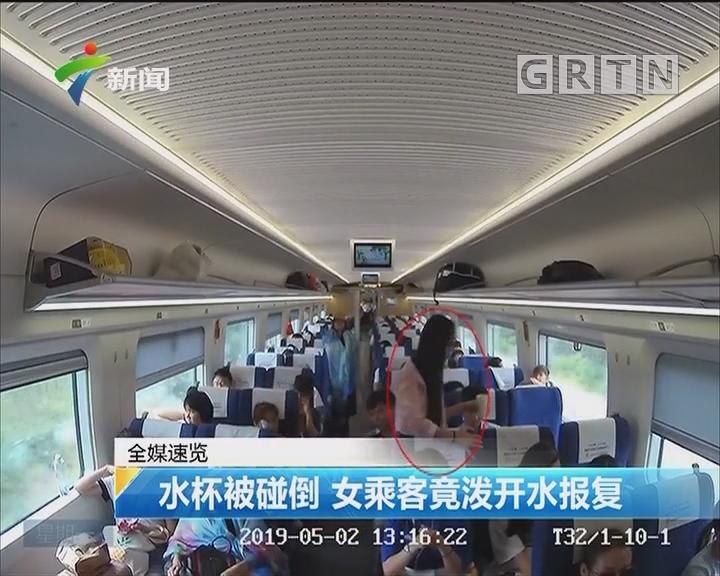 水杯被碰倒 女乘客竟泼开水报复
