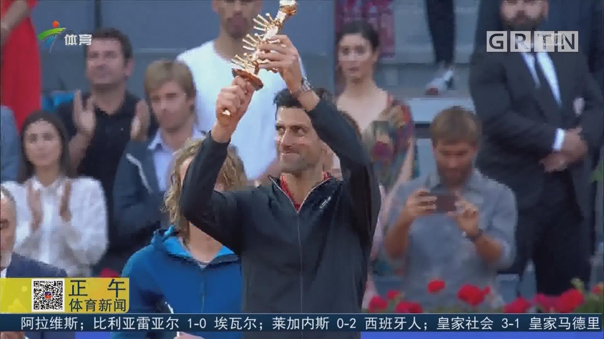 德约科维奇夺个人巡回赛第74冠