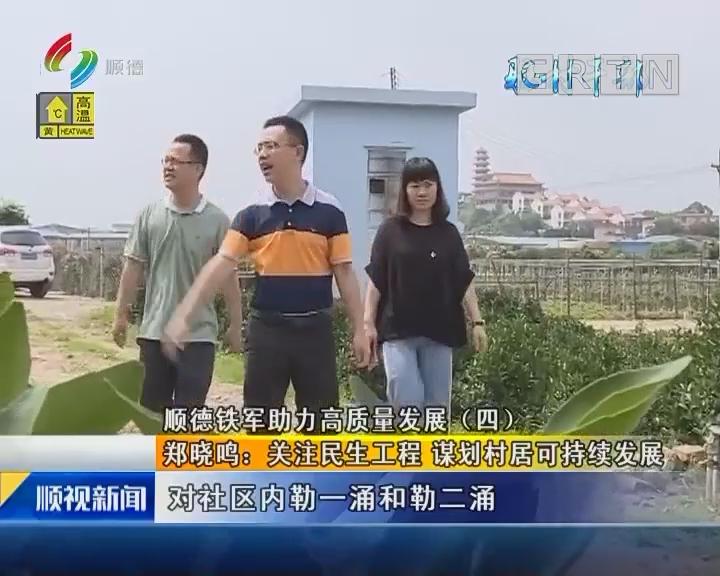 顺德铁军助力高质量发展(四) 郑晓鸣:关注民生工程 谋划村居可持续发展