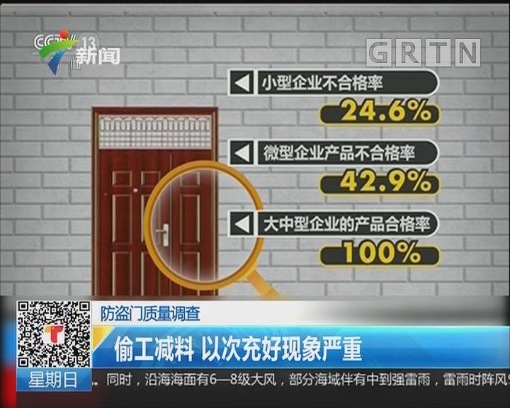 防盗门质量抽查:偷工减料 以次充好现象严重