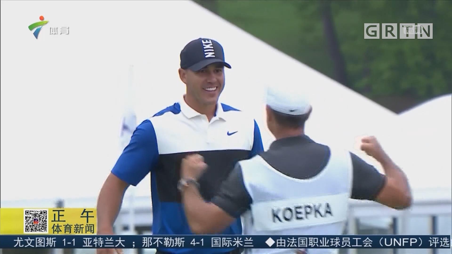 科普卡卫冕PGA锦标赛 成功登顶世界第一