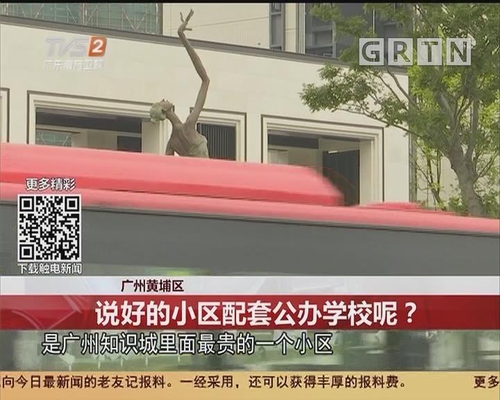 广州黄埔区:说好的小区配套公办学校呢?