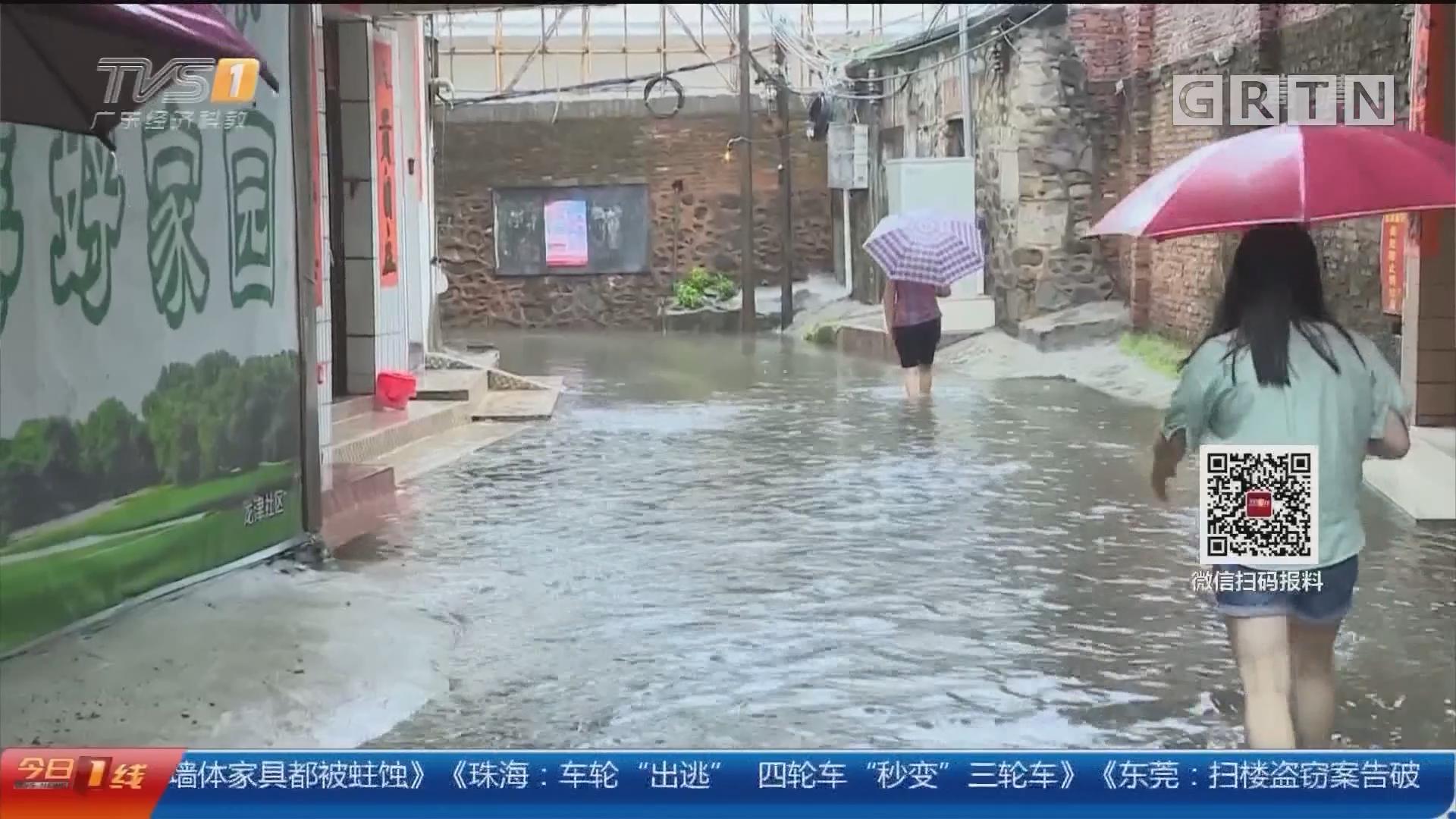 阳江:暴雨引发水浸 十多户居民受浸