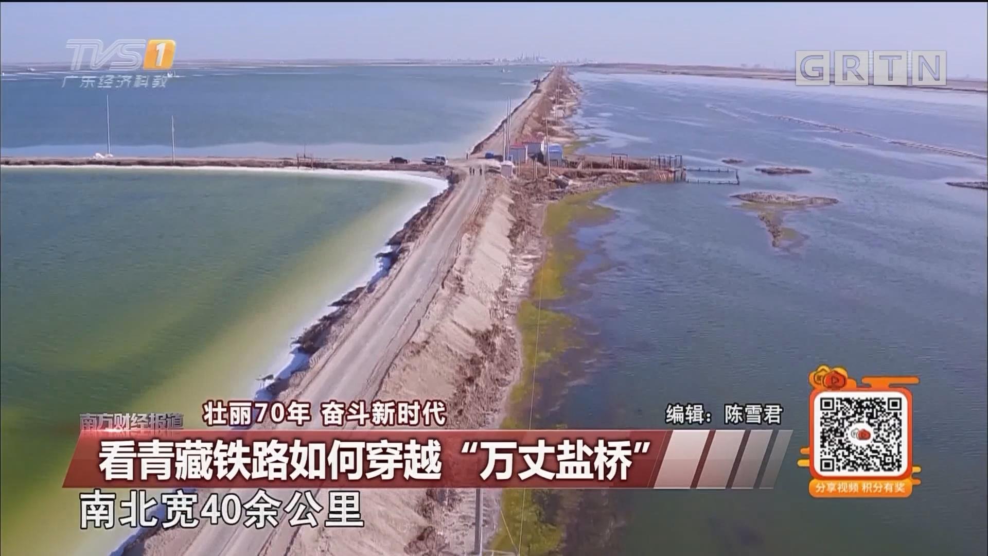 """看青藏铁路如何穿越""""万丈盐桥"""""""