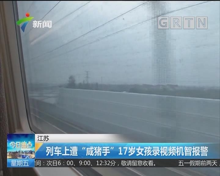 """江苏:列车上遭""""咸猪手""""17岁女孩录视频机智报警"""