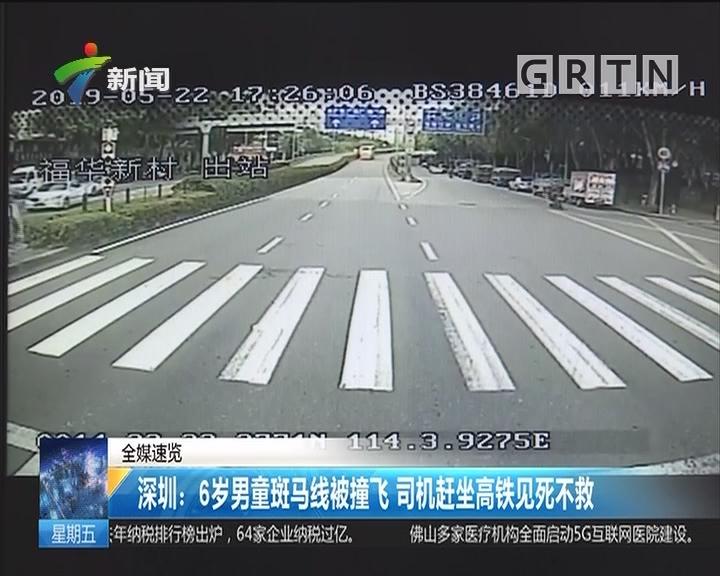 深圳:6岁男童斑马线被撞飞 司机赶坐高铁见死不救