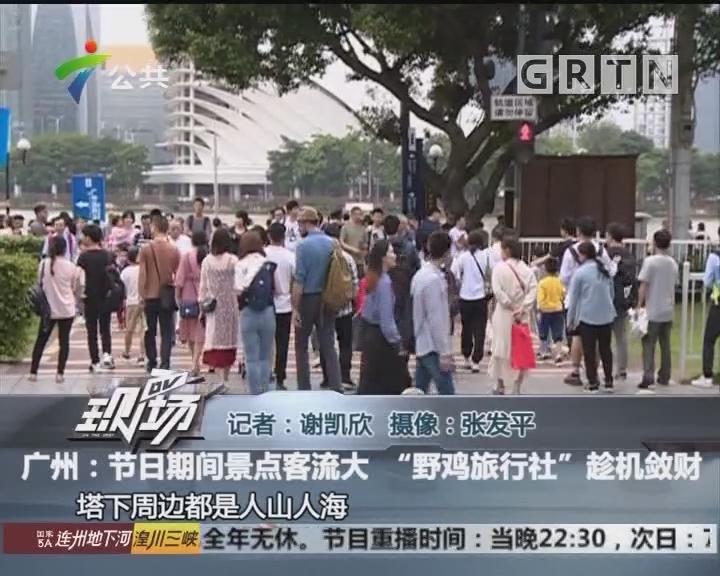 """广州:节日期间景点客流大 """"野鸡旅行社""""趁机敛财"""