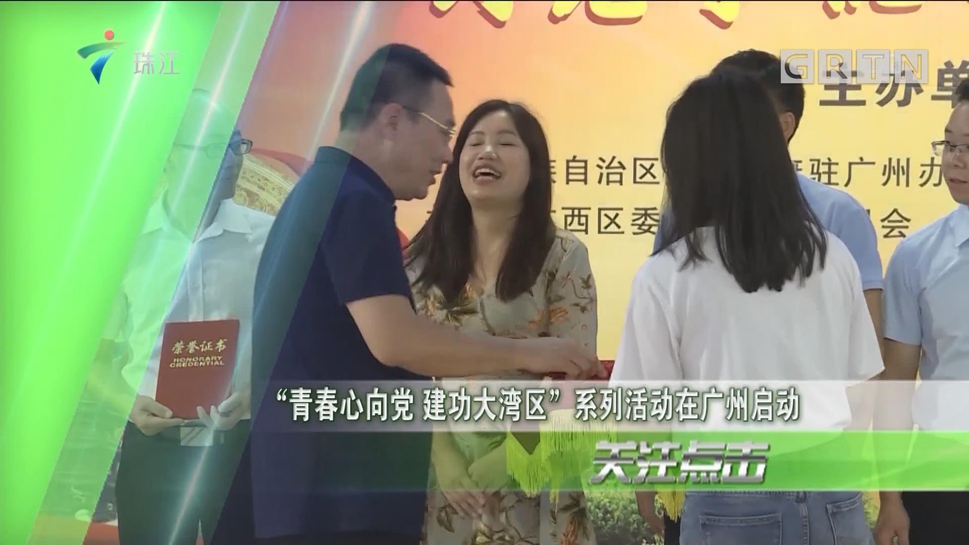 """""""青春心向党 建功大湾区""""系列活动在广州启动"""