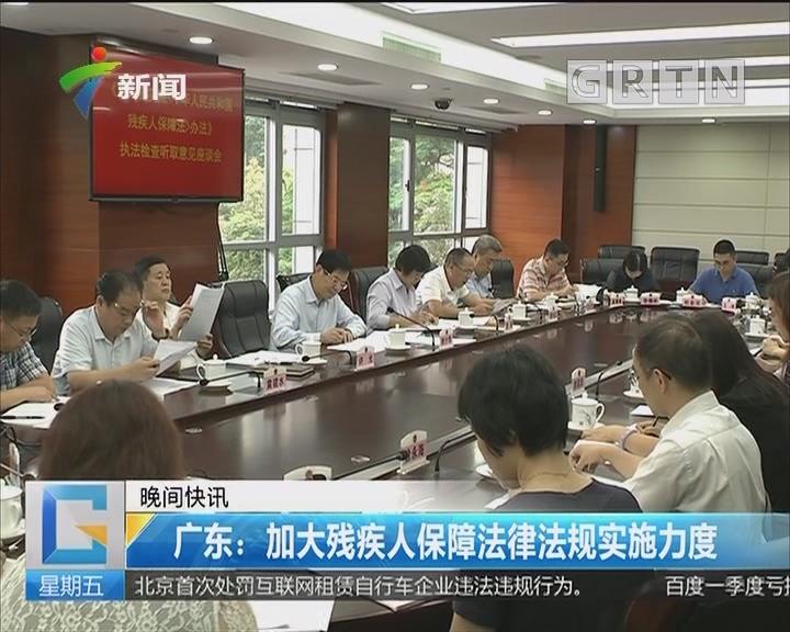 广东:加大残疾人保障法律法规实施力度