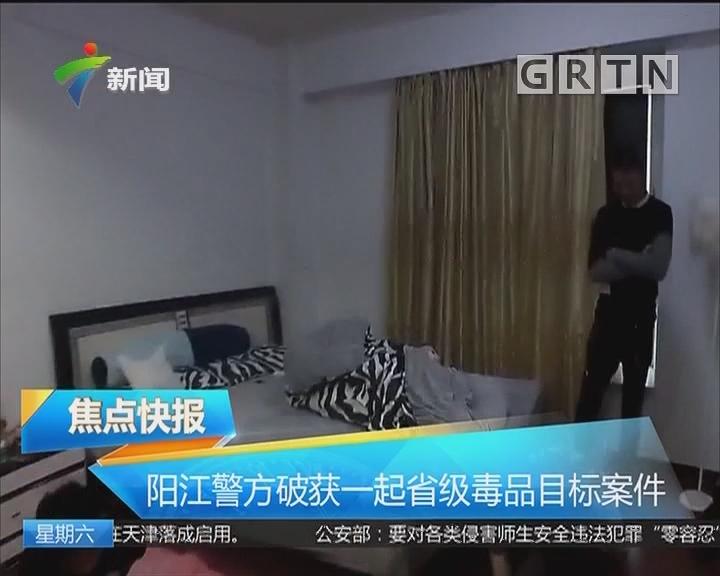 阳江警方破获一起省级毒品目标案件