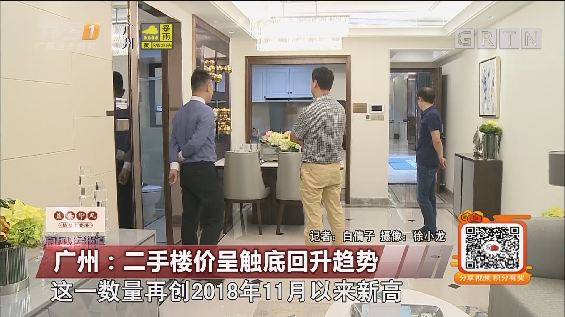 广州:二手楼价呈触底回升趋势
